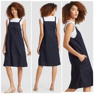 Eileen Fisher Organic Cotton Denim Jumper Dress